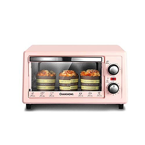 LUNAH Mini Oven with Grill Rotisserie Electric Oven and Hob Packages Hob Cookers Timing Wide-Area Temperature Control 11L Mini Ovens (Color : Pink)