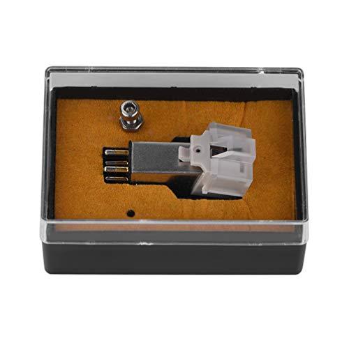 Bewinner Stylus voor platenspeler platenspeler, magneetcassette stylus met LP-vinylnaald voor platenspeler platenspeler vervangplatenspeler-naalden Stylus naalden