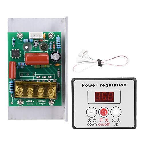 PUSOKEI Regulador de Voltaje Digital SCR de 6000 W, termostato atenuador de Control de Velocidad, 0-100%, 220 V CA, con rectificador controlado de silicio de Gran Potencia bidireccional