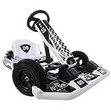 QAZQ 36V Electric Kart Drifting Kit, Kids Adjustable Modes Electric Racing Scooter with Handbrake, Brake Pedal and Flashing Light, Battery-Powered Go Karting Car for Boys Girls Ride-On Bike (Black)