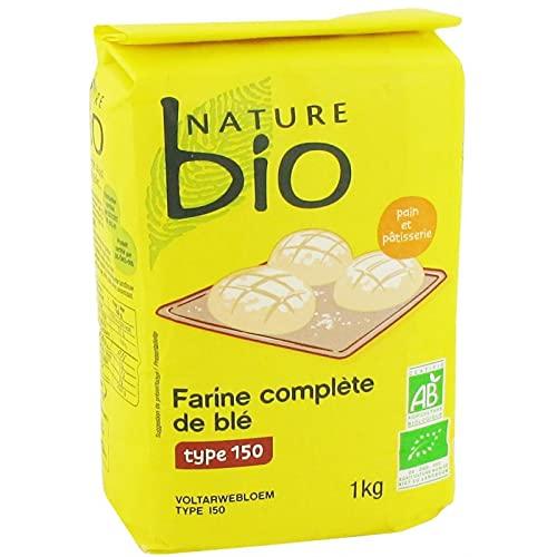 NATURE BIO - Farine Complète De Blé T150 1Kg - Lot De 4 - Offre Special