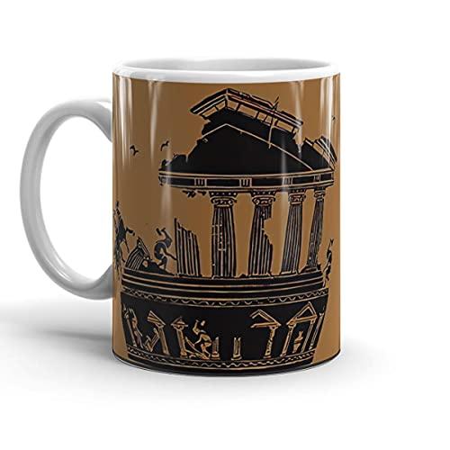 White Ceramic Coffee Mug Legend Cup Of Wedding Kratos Party Greek Holidays Mythology Birthdays Style Tea For Microwave Dishwasher Safe Office Home 15 11 Oz