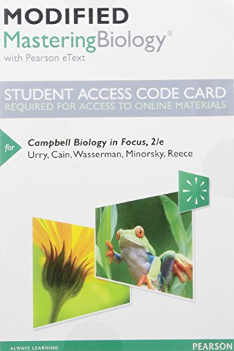 Modified Mastering Biology with Pearson Etext -- Standalone Access Card -- For Campbell Biology in Focus