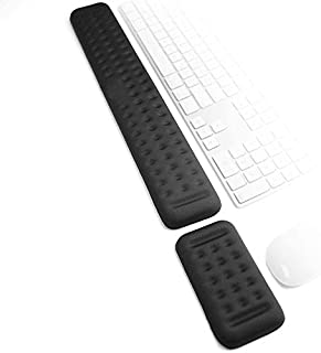 2 IN 1 Keyboard Wrist and Mouse Pad Wrist Rest Pad, Memory Foam, Hand Palm Rest Support, Memory Foam Pads Gaming, Compute...