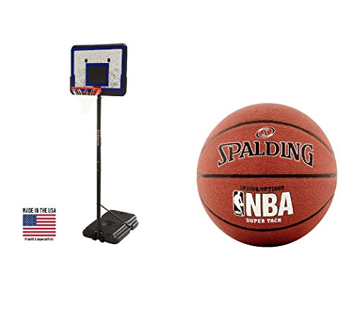 "Lifetime 44"" Portable Adjustable Height Basketball Hoop System, 1221 Spalding Official NBA Gear"