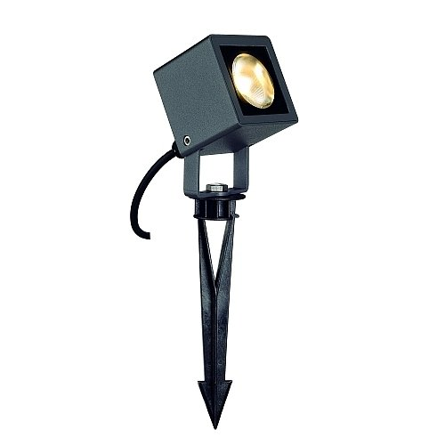 Projecteur Spot LED extérieur Small Square LED, rectangulaire, anthracite, 6 W, 3000 K EEK : A – A + +