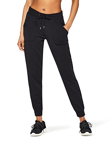 Amazon-Marke: AURIQUE Damen Jogginghose Jogger, Schwarz (Black), 34, Label:XS