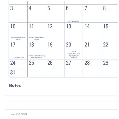 """AT-A-GLANCE Academic Desk Pad Calendar, July 2017 - June 2018, 21-3/4"""" x 17"""", Monthly, E-Z Read (SKLPAY32) Photo #4"""