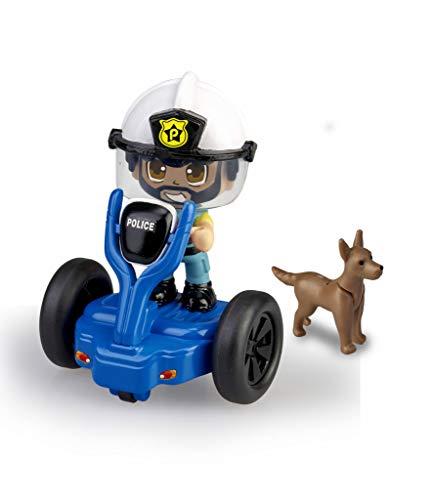 Pinypon Action - Segway vehículo de policía con 1 Figura, para niños y niñas a Partir de 4 a 8 años, (Famosa 700015693)