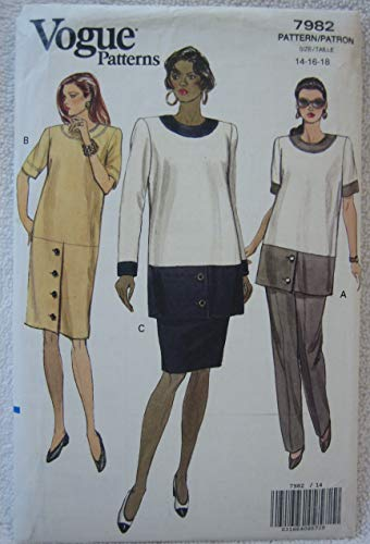 Vogue Pattern 7982 - Misses' Maternity Dress, Tunic, Skirt and Pants (Size 14-16-18)