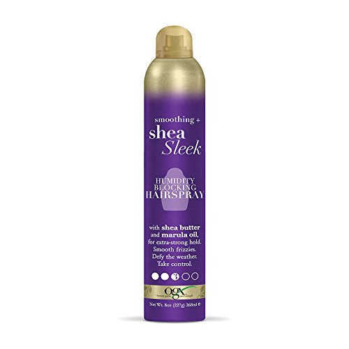 OGX Smoothing + Shea Sleek Humidity Blocking Hairspray, 8 oz