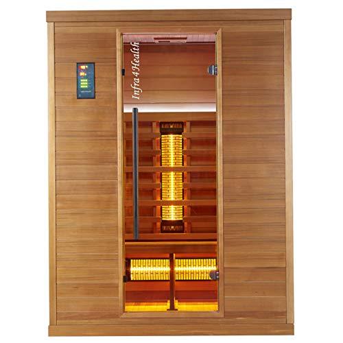 Infra 4 Health I-150 Infrarotkabine Sauna mit Zedernholz für 2-3 Personen