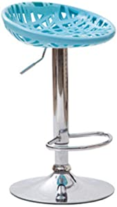 Zplyer Barhocker Aus Holz Metall Barhocker rutschfest Bequem Geeignet Für Bars Küchen Und Büros Barhocker Drehlift Farbe Cyan