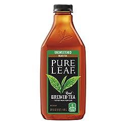 Pure leaf Iced Tea, Unsweetened, Real Brewed Tea (64 oz Bottle)
