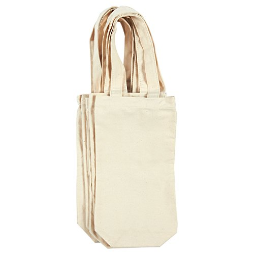 Wine Tote Bags, Gift Bags (6.5 x 12.2 in, 6 Pack)