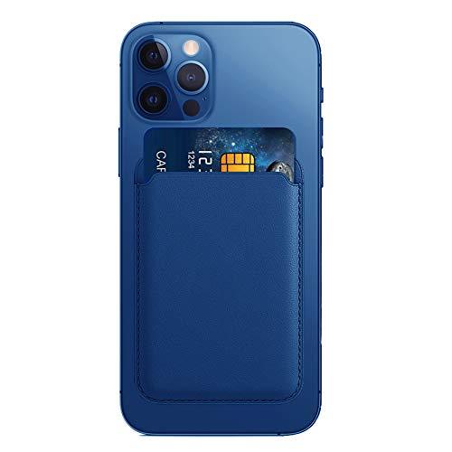AnCoSoo Titular de la Tarjeta de Crédito para el iPhone, Cartera Magnética del Caso de la Cartera del Tenedor de La Tarjeta de Crédito del Teléfono Móvil para el iPhone 12/12 Mini/Pro/MAX (Azul)