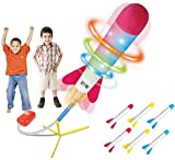 Play22 Toy Rocket Launcher LED - Jump Rocket Set Includes 6 Rockets - Play Rocket Soars Up to 100 Feet + - Missile Launcher Best Gift for Boys and Girls - Air Rocket Great for Outdoor Play  Original