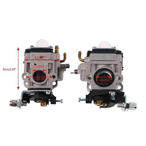 love lamp Carburador 2 Tiempos carburador de 15 mm MP15 Carb Kit for 43cc 47cc 49cc 50cc Gas Bici del Bolsillo Vespa Engine