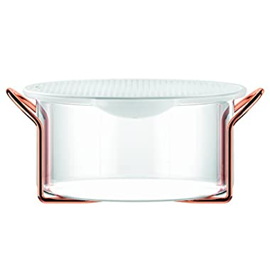Bodum Hot Pot Bakeware Dish with Silicone Lid & Copper Stand, 2.0 L/68 oz/Large, Copper
