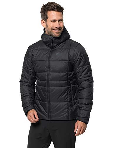 Jack Wolfskin Herren Argon THERMIC Jacket M Wetterschutzjacke, Black, L