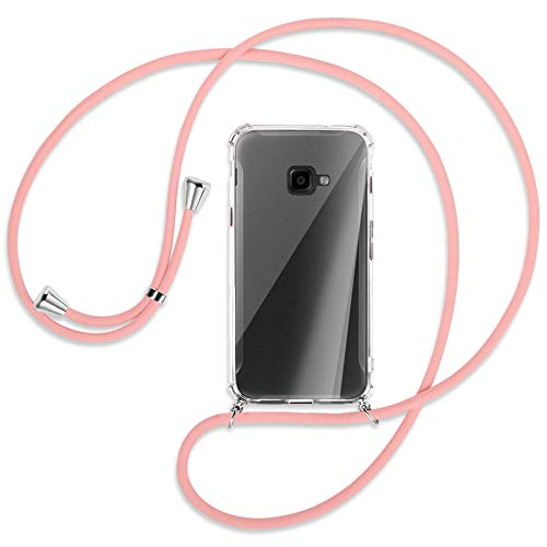 mtb more energy® Handykette kompatibel mit Samsung Galaxy Xcover 4, 4S (SM-G390, G398 / 5.0'') - rosa - Smartphone Hülle zum Umhängen - Anti Shock Full TPU Hülle