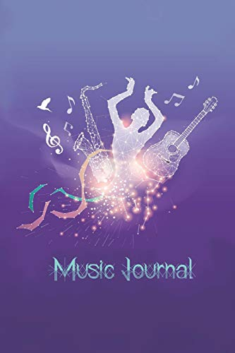 Music Journal: Music Songwriting Journal: Blank Sheet Music, Lyric Diary and Manuscript Paper for Songwriters and Musicians Gifts for Music, Sax, Guitar, The Galaxy and The Star Lovers