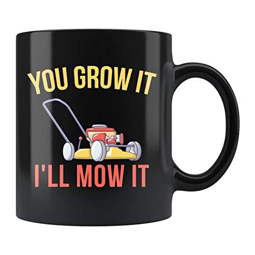 Taza de cortacésped, taza de jardín, para amantes de plantas, para paisajismo, cuidado del césped, taza de jardinería, taza de cerámica de 445 ml