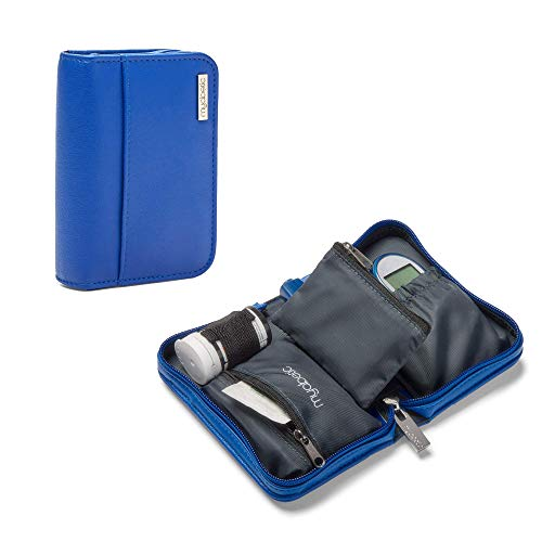Myabetic Clemens Diabetes Case for Glucose Meter, Test Strips, Lancing Device and Lancets Includes Trash Pocket - Compact Design