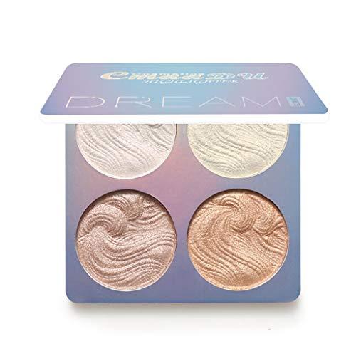 DAKERTA - CmaaDu 3D Shimmer Highlighter Gesichtspuder-Palette Gesicht Basis Glanz Illuminator Make-up sexy neue Sie müssen es mögen (B)