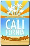 DGBELL California Palm Trees Signe d'étain Vintage rétro Plaque de Fer Peinture Avertissement Avis rétro Affiche café Bar Film