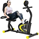 pooboo Recumbent Exercise Bike with Adjustable Magnetic Resistance