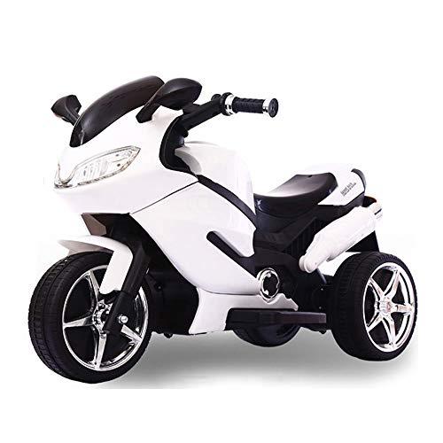 Lotee Rc Motocicleta Niños Triciclo eléctrico Hombres Mujeres Juguetes for bebés Pueden sentarse Niños Control remoto Coche eléctrico Puede andar Coche eléctrico Batería de paseo Cochecito de carga Co