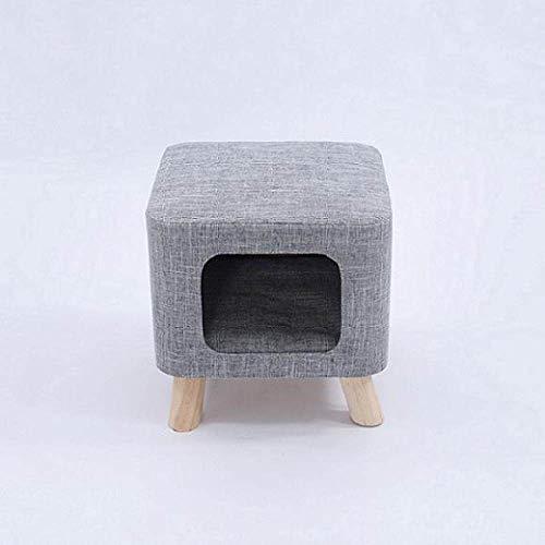 LGFSG Haustierhöhle Moderner Hocker Cat House Cave Vier-Jahreszeiten-Weichmatte Beide Sitze Tragbare Haustierhöhle Chat beleuchtet HaustiereKatzen, grau, klein