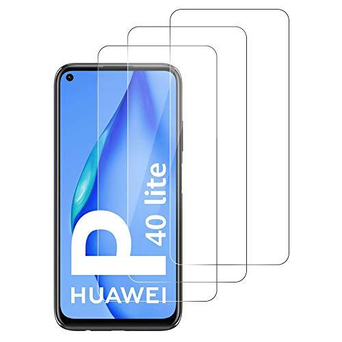 DASFOND Panzerglas Kompatibel mit Huawei P40 Lite, [3 Stück] Huawei P40 Lite Schutzfolie, Blasenfrei, HD Panzerglasfolie, 9H-Härte, Anti-Bläschen, Displayschutzfolie für Huawei P40 Lite