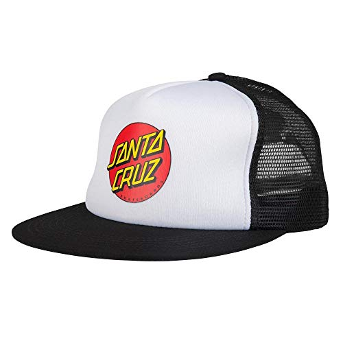 Santa Cruz Classic Dot white/black Trucker Cap