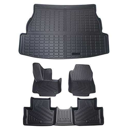 Nother Car Floor Mats & Cargo Liners Car Trunk Mats Set Compatible for Toyota Rav4 2019 2020 2021 Rubber Mat All-Weather Protection.