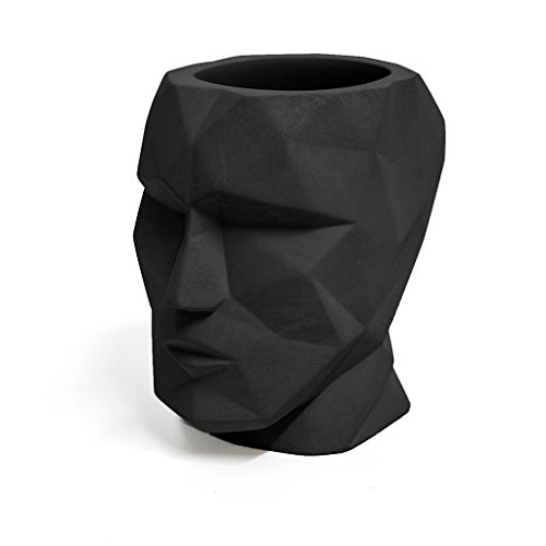 Balvi Porta matite The Head Colore Nero Forma di Testa...
