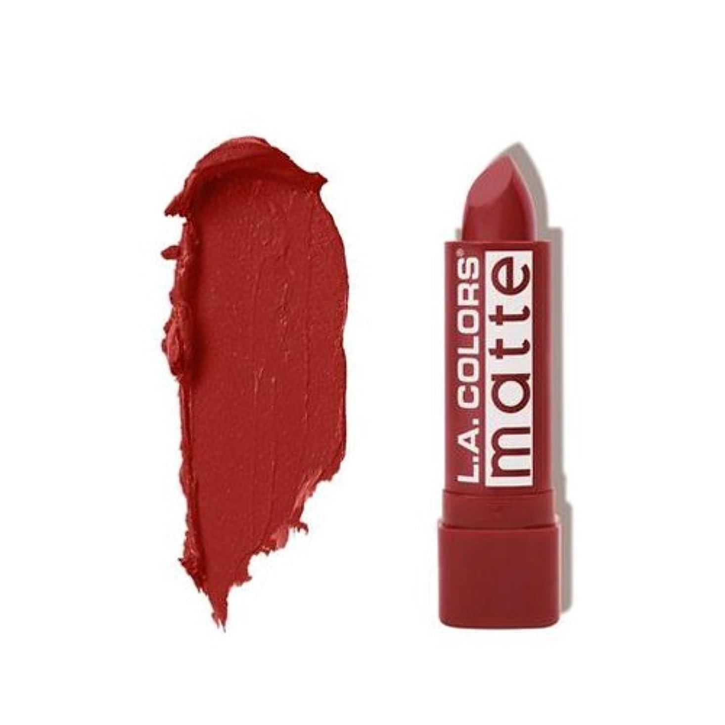 鎮痛剤唯一ディベート(6 Pack) L.A. COLORS Matte Lip Color - Brick (並行輸入品)
