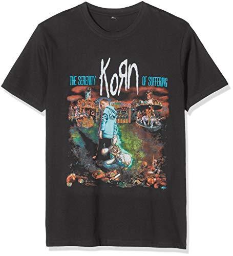 MERCHCODE Herren Korn Circus Tee T-Shirt, Schwarz (Black 00007), Small (Herstellergröße:Small)