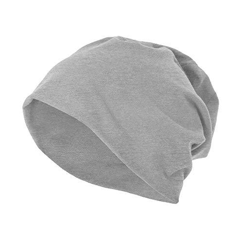 Build Your Brand Jersey Bonnet Beanie, Gris, Taille Unique Mixte