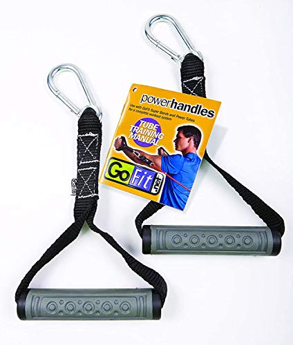 GoFit Power Handles – Resistance Band Handles, Pull Up Handles for Strength Training - One Pair