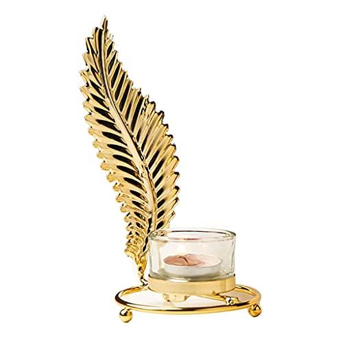 IG Soporte de Vela Candlestica de Oro, Candelero de Hierro, Decoración Del Hogar de Boda, Vela Soportes para Velas de Pilares,B