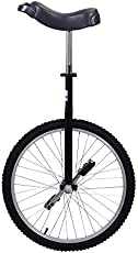 KEYZEA 24inch Wheel Ourdoor Unicycle for Adults with Anti-Skid Alloy Rim Pedal and Stand (Black-1, 24in)