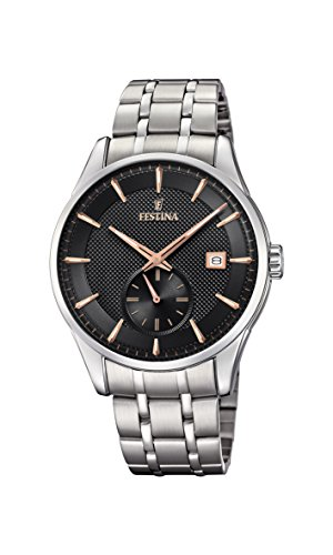 Festina Herren Analog Quarz Uhr mit Edelstahl Armband F20276/4
