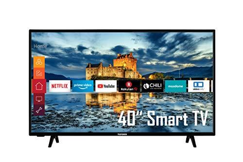 Telefunken XF40K511 40 Zoll Fernseher (Smart TV, Prime Video / Netflix / YouTube, Full HD, Works with Alexa, Triple-Tuner) [Modelljahr 2021]