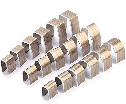 FTVOGUE 18pcs in lega di alluminio universale in pelle artigianale foro cutter vuoto impronta Punch Set Kit strumenti di punzonatura in pelle fai da te