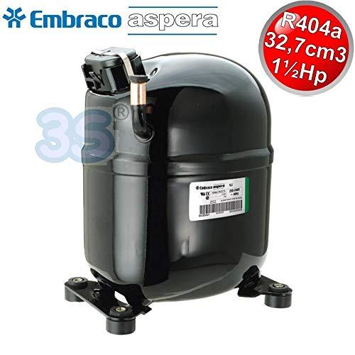 COMPRESSORE MOTORE FRIGO EMBRACO ASPERA NJ9238GK 1,5 HP CSR - GAS R404A R507