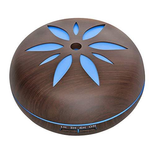 Ultrasone luchtbevochtiger met houtnerf ter verbetering van de gezonde ademhaling. Frisse lucht 7 gekleurde ledlampen, capaciteit 550 ml.