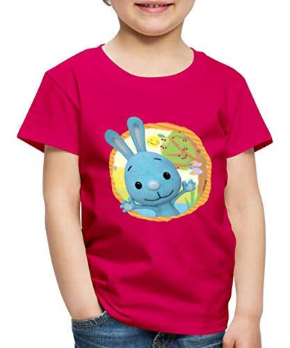 KiKANiNCHEN Kaninchen Sommertag Am See Kinder Premium T-Shirt, 110-116, Dunkles Pink