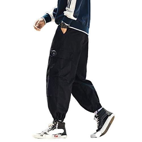 Preisvergleich Produktbild Men's Pants Japanese Fashion Loose Multi-Pocket Drawstring Beam feet Casual Overalls Large Size Harlan Nine-Point Pants